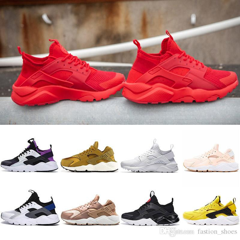 54c833ebb 2019 2019 New Air Huarache I Running Shoes For Men Women Red Green Rose  Gold Sneakers Triple White Black Huaraches Trainers Sports Sneakers Shoes  From ...