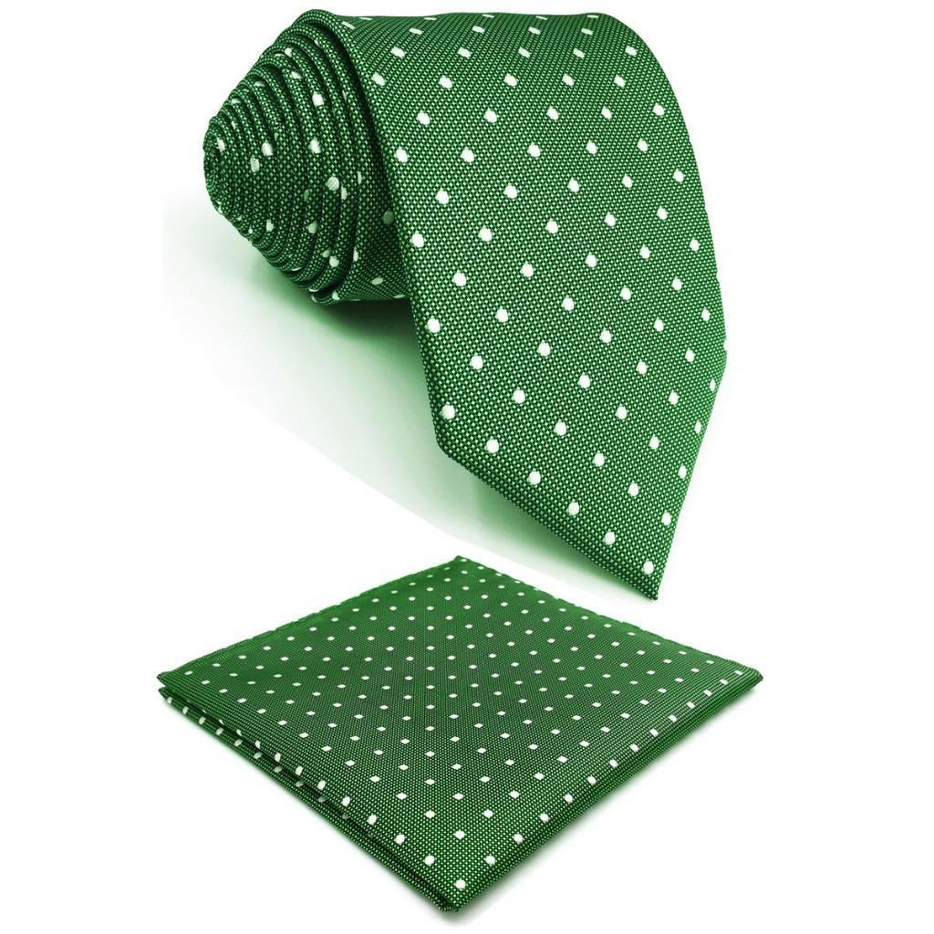 5f988835a68 Green Polka Dots Silk Mens Necktie Designer Fashion Brand New Accessory Pocket  Square X Long Green Ties Green Bow Tie From Mantous