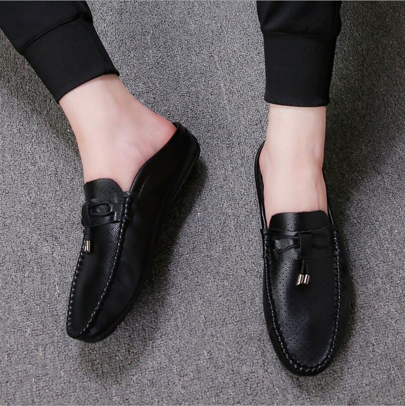 23986a573d2 Men Shoes 2019 Moccasin Slippers Male Mens Shoes Leather Breathable Loafers  High Quality Driving Italy Wedding Men