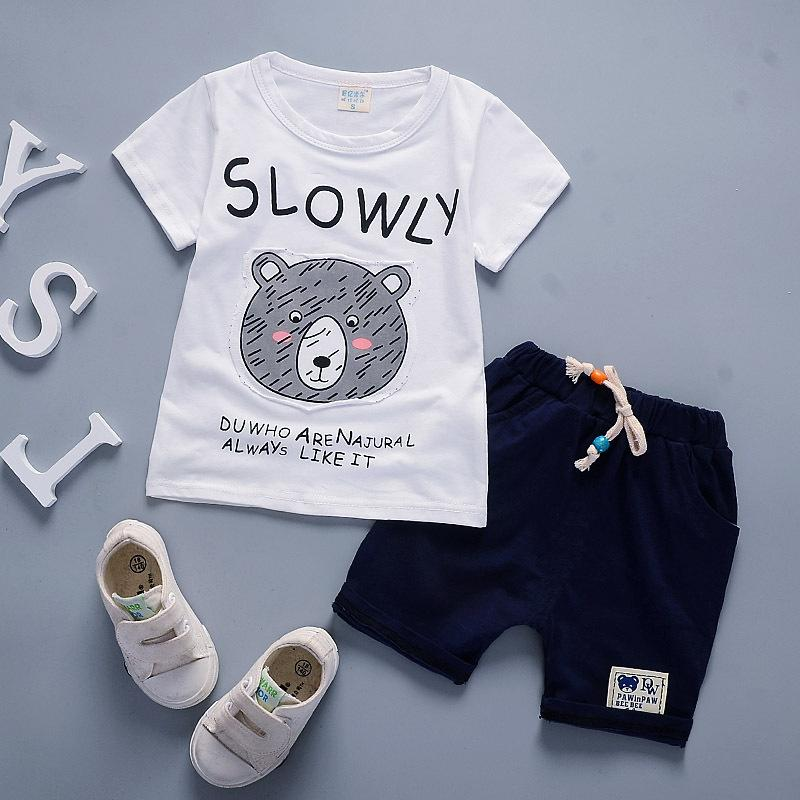 f16447ee6 2019 Hot Sale Summer Toddler Baby Boy Clothing Set Children Cartoon ...