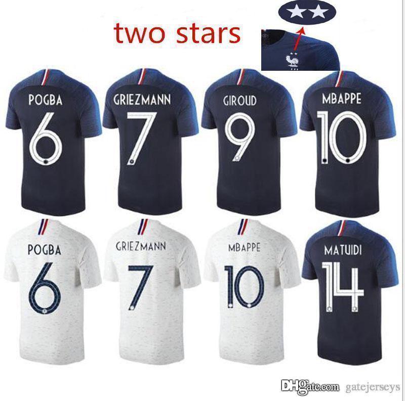 2018 France World Cup Jerseys GRIEZMANN MBAPPE POGBA DEMBELE ... bcd43f16c