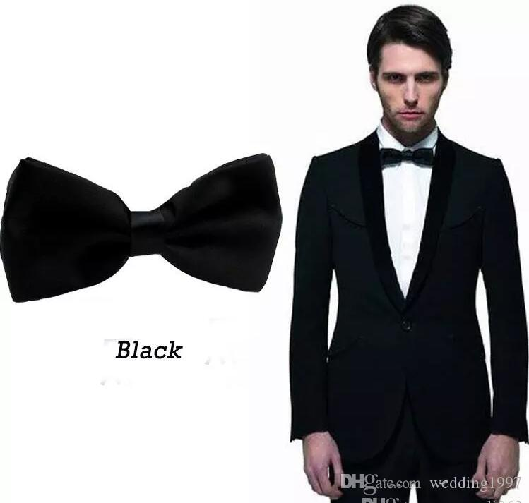 Black Groom Bow Ties for Men Suits Fashion Men Formal Occasion Formal Wear Tuxedos Bow Ties Best Match
