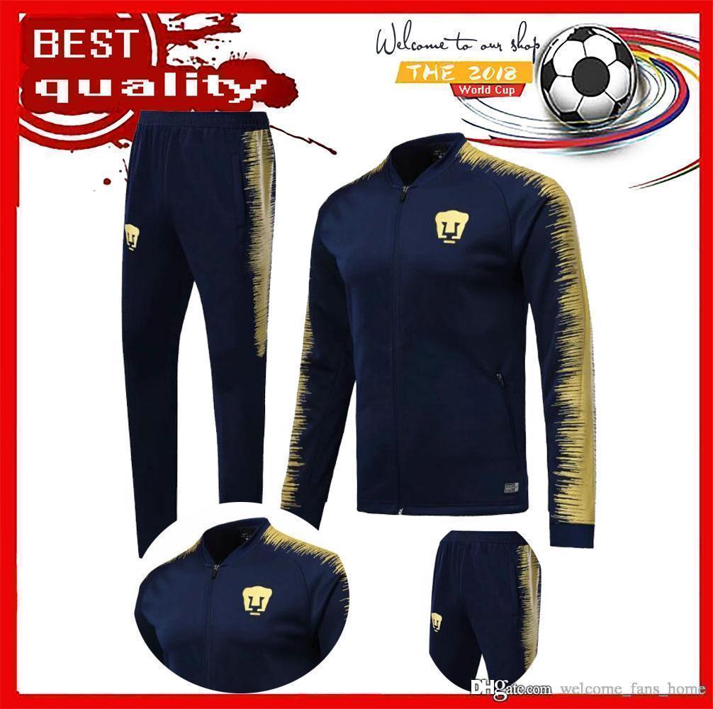 93c43a91e 2019 Cougar 18 19 Mexico Club America Jacket Training Suit 18 19 GUERRON  CALDERON CASTILLO Football Cougar UNAM Football Jackets Tracksuit Set From  ...