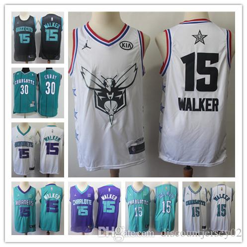 outlet store 5dd5a 5bbed All 2019 Star 1 Tyrone Muggsy Bogues Jersey Men Charlotte Basketball  Hornets 2 Larry Johnson 33 Alonzo Mourning Kemba 15 Walker Edition