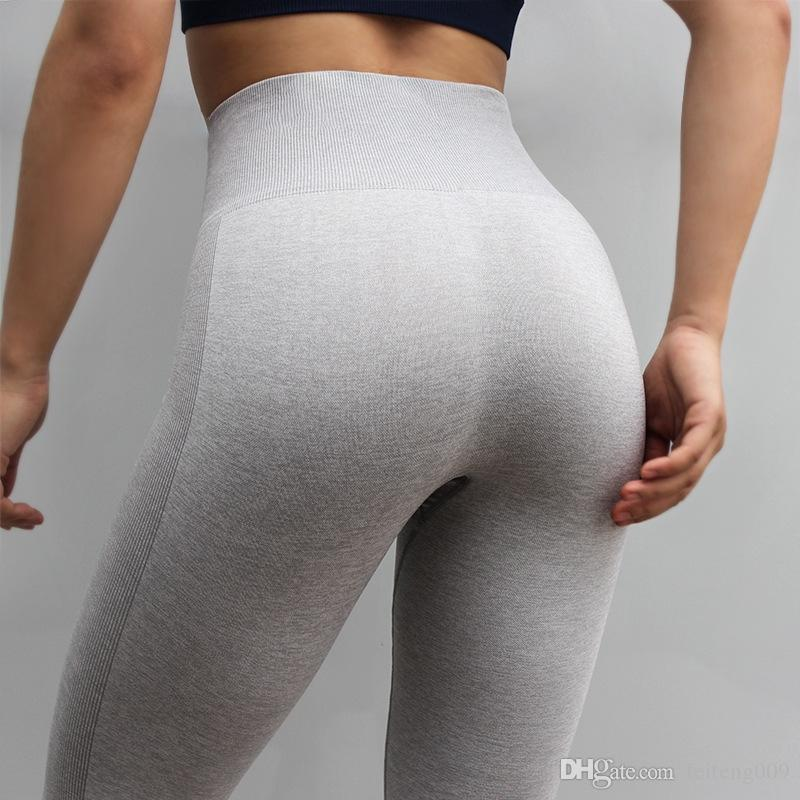 94fcef58be7 2019 Women Vital Seamless Leggings High Waisted Fitness Capris Stretchy  Sports Running Sweatpants Tights For Gym Slim Yoga Pants  804991 From  Feiteng009