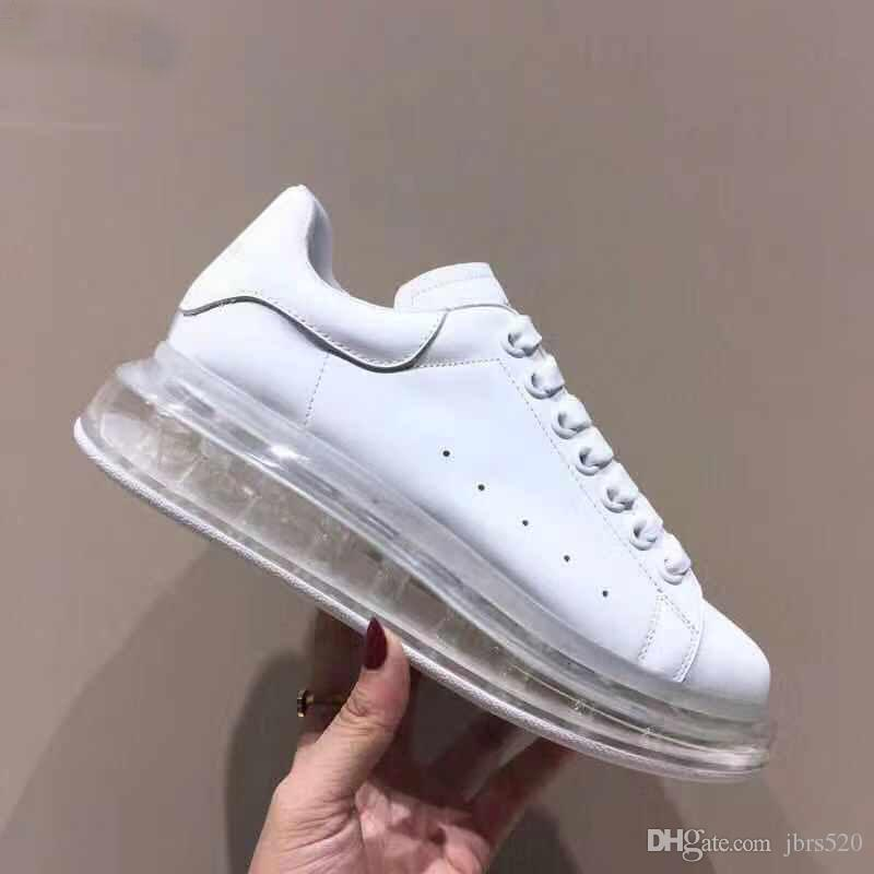 Kristal ayakkabı Siyah Beyaz Platformu Klasik Rahat Ayakkabılar Rahat Spor Ayakkabı Mens Womens Sneakers Tasarımcı Elbise Kristal Alt Ayakkabı Spor