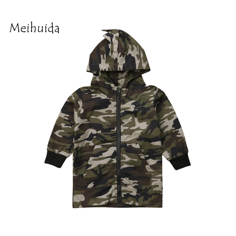 Baby Girls Boys Jacket Cardigan 2019 Fashion Spring Dinosaur Camouflage Coats Army Children's Windbreaker Outerwear