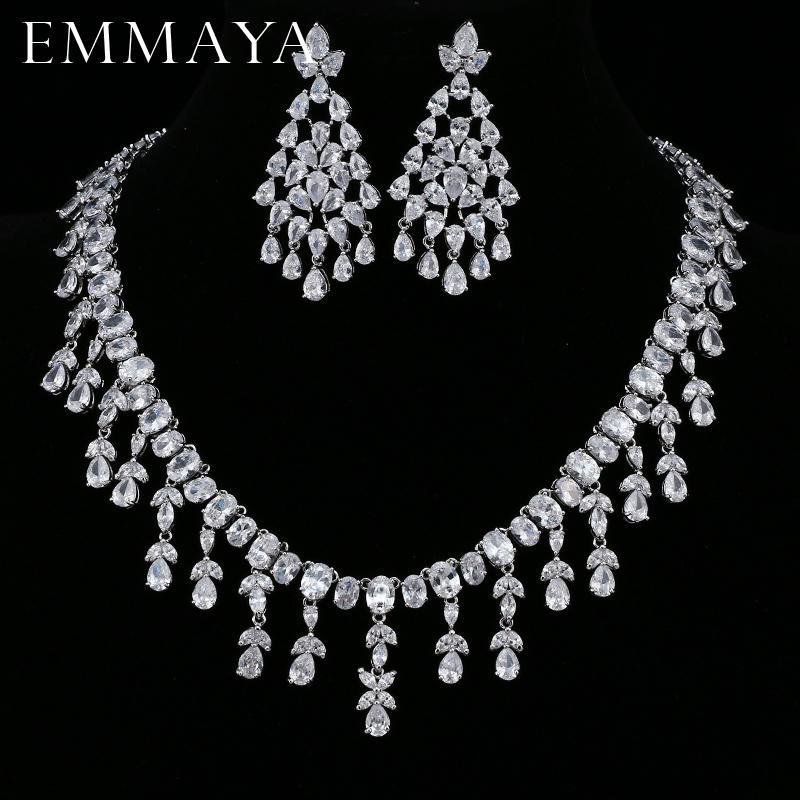 d6e7214778df Compre EMMAYA Femme Bijoux AAA CZ Pendientes Conjuntos De Joyas Para  Mujeres Del Banquete De Boda Joyería De Moda Accesorio C19010301 A  54.24  Del Xiao0003 ...