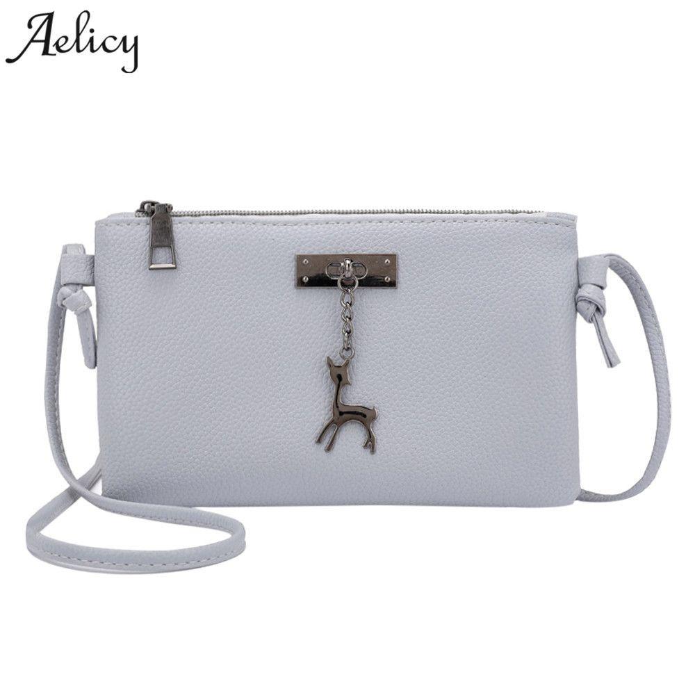 Cheap Aelicy 2018 Women Shoulder Bags Fashion Mini PU Bag Deer Toy Shell  Shape Leather Crossbody Bag Small Deer Messenger Bag Hot Sale White Handbags  ... c4cd019653907