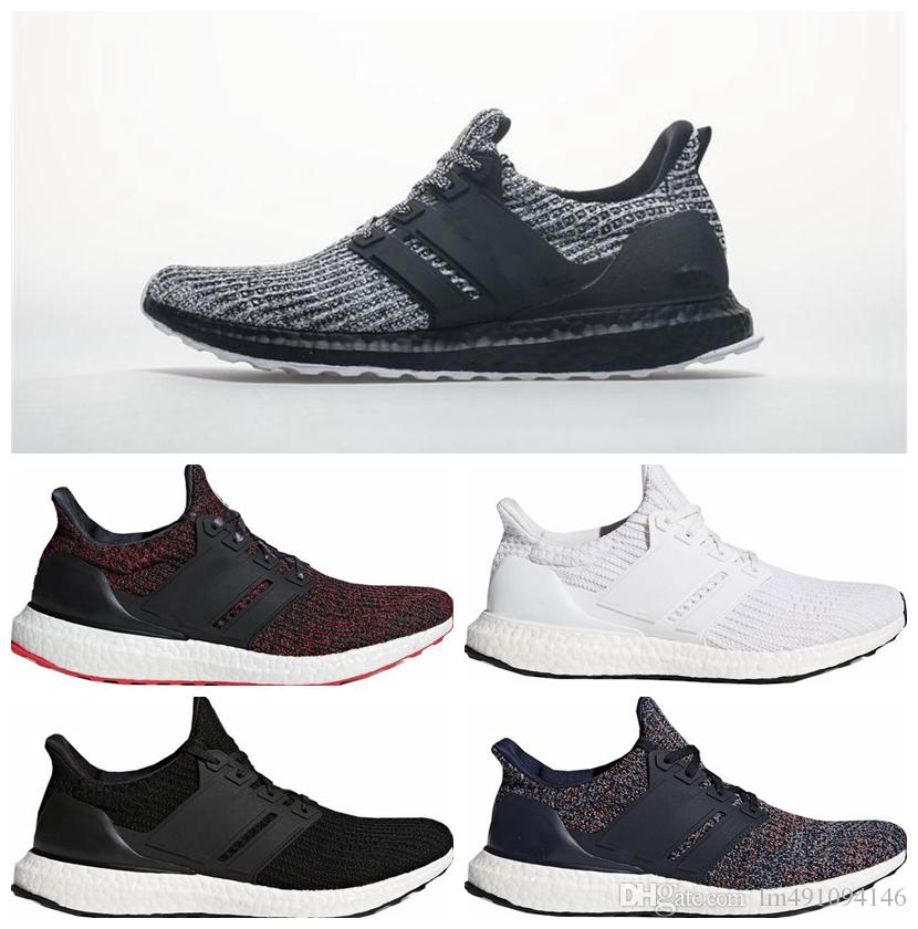 213baae224946 2019 Ultra Boost 3.0 4.0 Triple Black And White Primeknit Oreo CNY Blue  Grey Men Women Running Shoes Ultra Boosts Ultraboost Sport From  Lm491094146