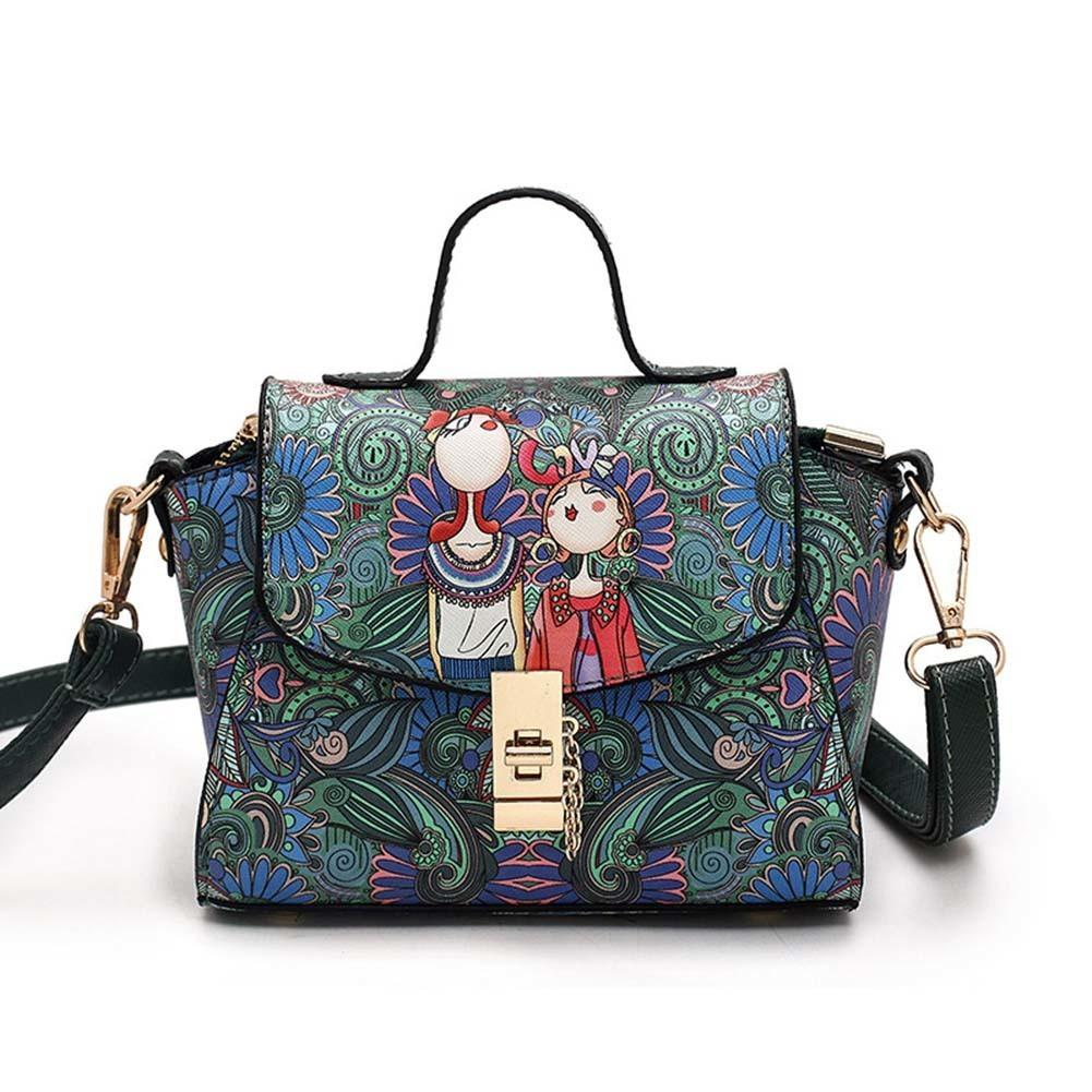 e740d0c4bb New Designer Pu Leather Fashion Messenger Bags Ladies Single Shoulder Bag  Forest Green Trapeze Bag Women Mini Bag Popular Good Quality Online with ...
