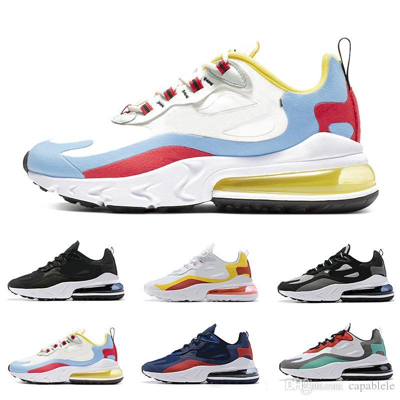 Nike air max 270 react shoes reaccionar hombres zapatillas Bauhaus Optical negro Blanco Diseñador para hombre entrenadores deportes respirables