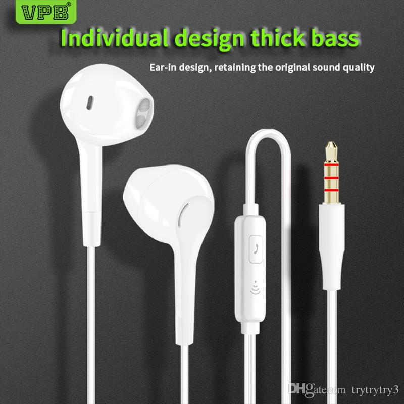 Sport Earphone wholesale Wired Super Bass 3 5mm Crack Earphone Earbud with  Microphone Hands Free for Samsung Wcc5
