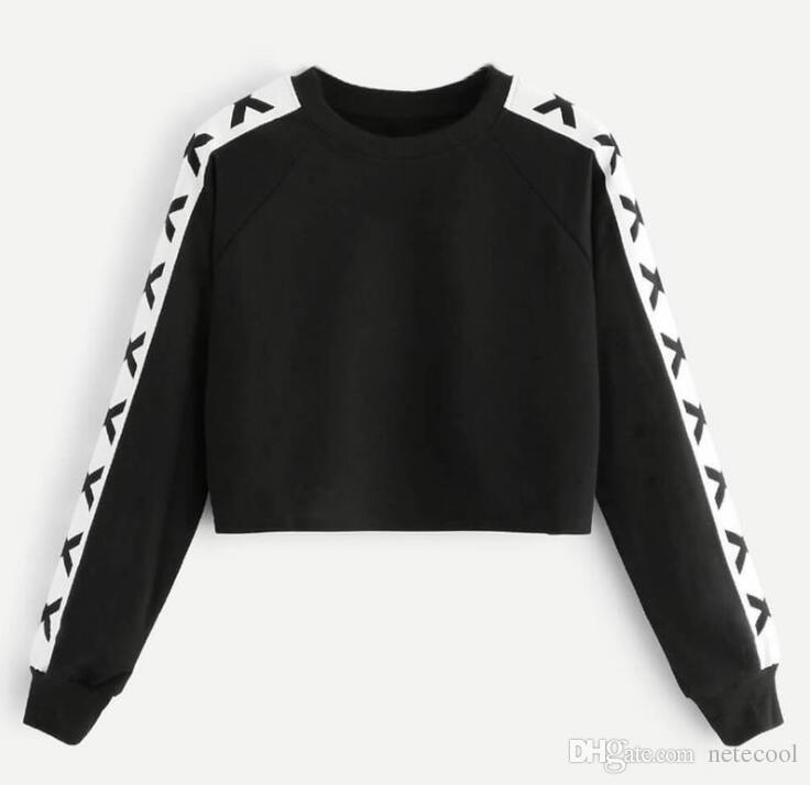 da64629e4fb02 2019 Fashion Crop Hoodies Pullover Women Autumn Winter O-Neck Hoodie And  Sweatshirt Crop Coat Tops Clothes Moletom Feminino Crop Hoodies Hoodies  Pullover ...