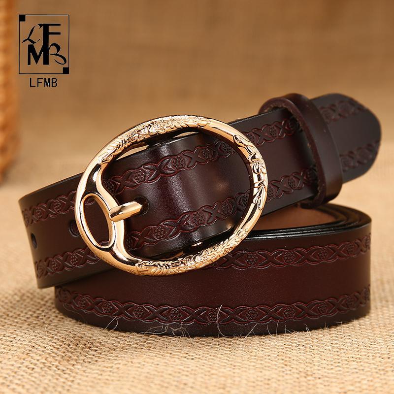 329d3ba3061fa LFMBWomen Belt Genuine Leather Fashion Waist Strap Belt Women'S Cowhide  Casual Pants Top Pin Buckl Weightlifting Belt Weight Lifting Belts From  Fabuline, ...