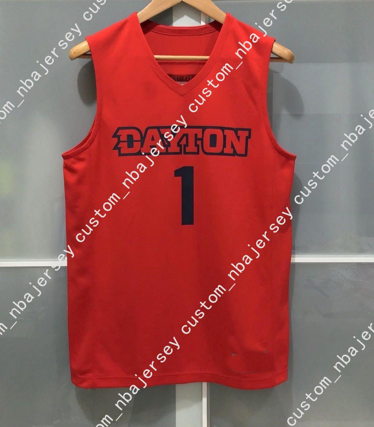 63aa2d36d 2019 Cheap Custom DAYTON FLYERS  1 NCAA MENS BASKETBALL JERSEY RED Stitched  Customize Any Number Name MEN WOMEN YOUTH XS 5XL From Custom nbajersey