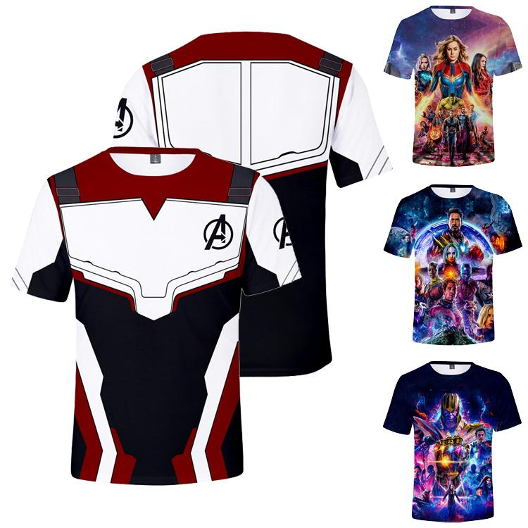 c0b7b304 2019 Avengers 4 Endgame 3D Printed T Shirt Kids & Adult Super Hero ...