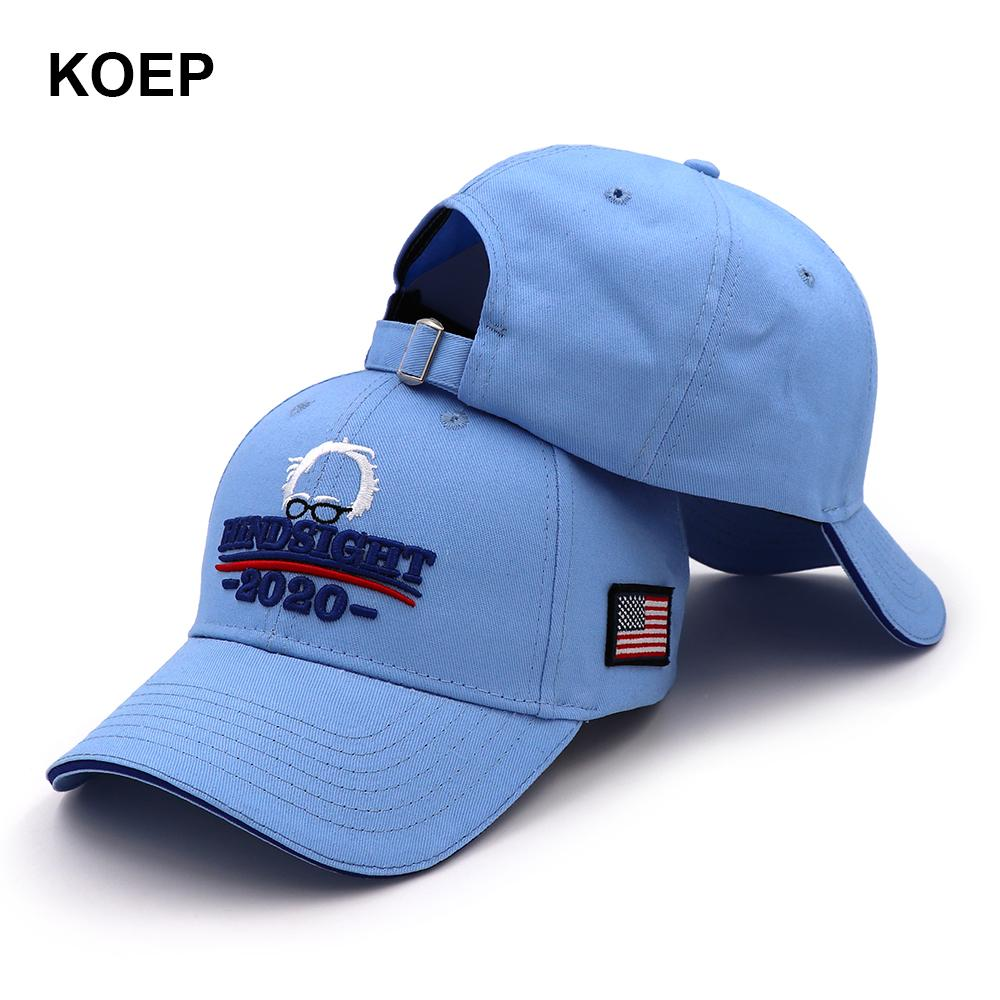 6a41f8028234e KOEP Bernie Sanders 2020 Cap USA Flag Baseball Caps Keep America Great  Snapback Hat 3D Embroidery Star Letter Hindsight Hats Hats For Sale  Neweracap From ...