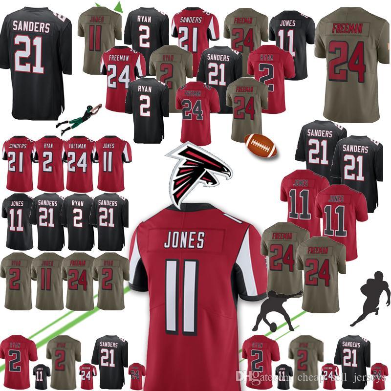 huge selection of 08cf6 edaab new Atlanta Jersey Falcons 21 Deion Sanders 11 Julio Jones 2 Matt Ryan 18  Ridley Jersey Limited 24 Devonta Freeman Jerseys mens