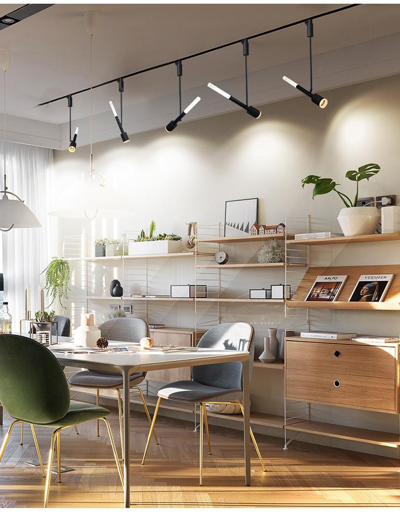 YRANK High Power 12W LED Track Light Dimmerabile 10W 20W 30W COB Lampade a soffitto Rail Spotlight Art Pendant Kitchen Clothes Shop