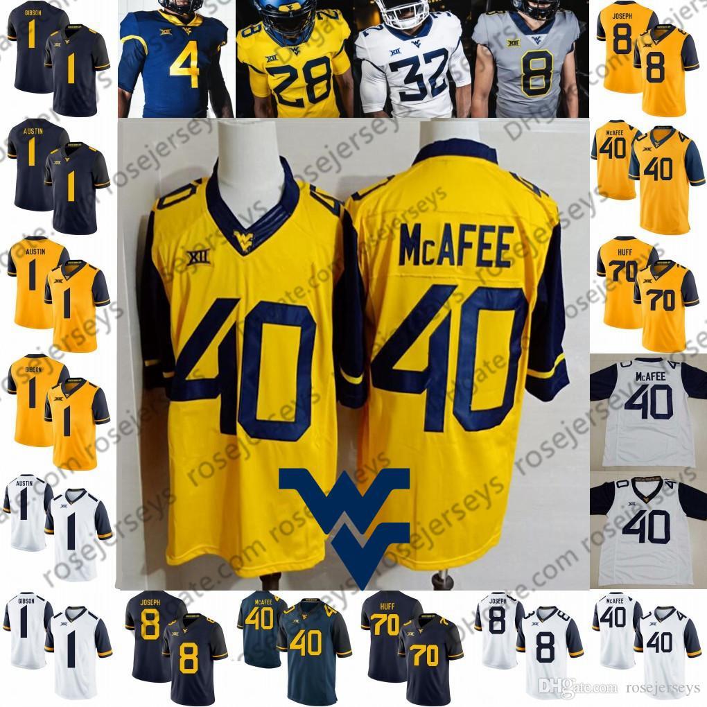 outlet store 4a36a 9e2ae 2019 West Virginia Mountaineers #40 Pat McAfee 70 Sam Huff 1 Shelton Gibson  Tavon Austin 8 Karl Joseph NCAA Retired WVU Football Jersey