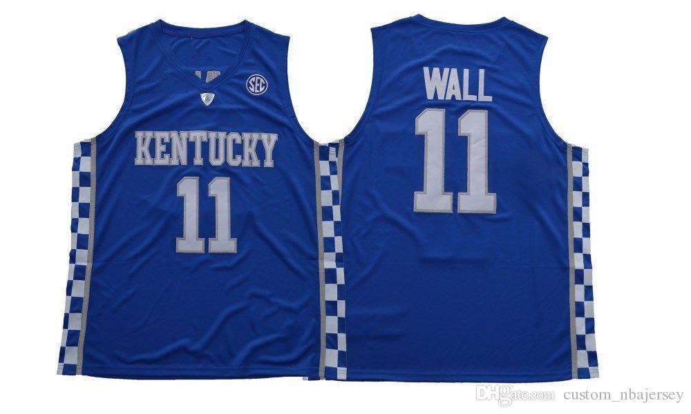 d46960a4ce6 ... jerseys kentucky 3491a 11e5f best price 2019 cheap custom kentucky  wildcats john wall 11 college basketball jersey blue stitched customize ...