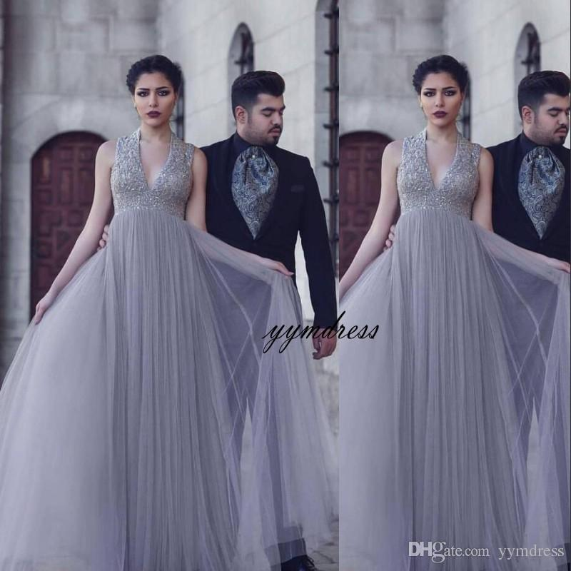 2019 Charming Beach Wedding Dresses Gowns silver Sequined Tulle A-Line Plus  Size Garden Bride Dress Arabic Bridal Ball Vestido de novia