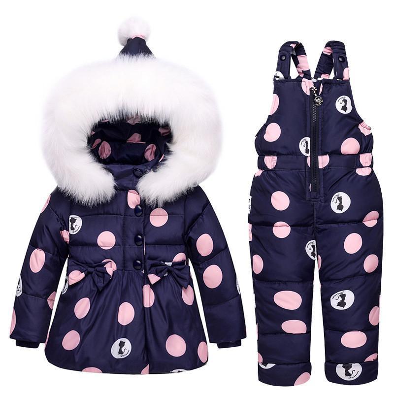 e3e9e58e8 Toddler Girl Clothes Sets Children S Down Jacket Winter Warm Cartoon ...