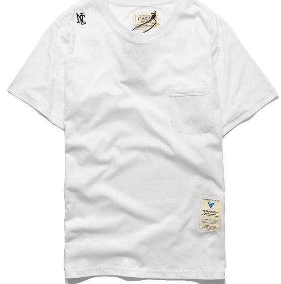 e40fb2582cc64 ... sleeve t shirt with pocket up  neighborhood nh cmss hip hop t shirts  men casual sports skateboard t ...
