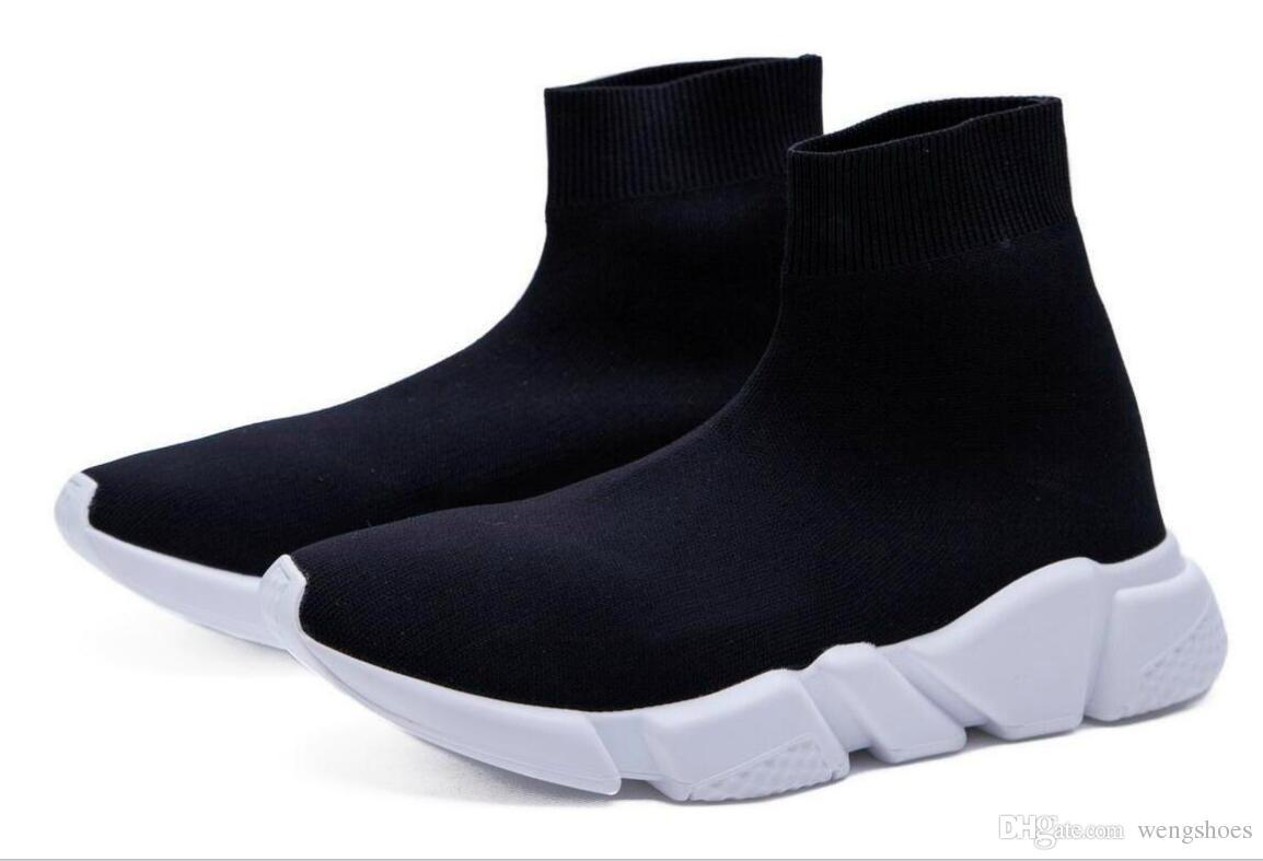 check out b8360 4a204 For Winter Men Women New Luxury Sock dart shoe Speed Trainer Running Shoes  Sports Shoes Speed Stretch-Knit Mid Casual Sneaker Size 36-45