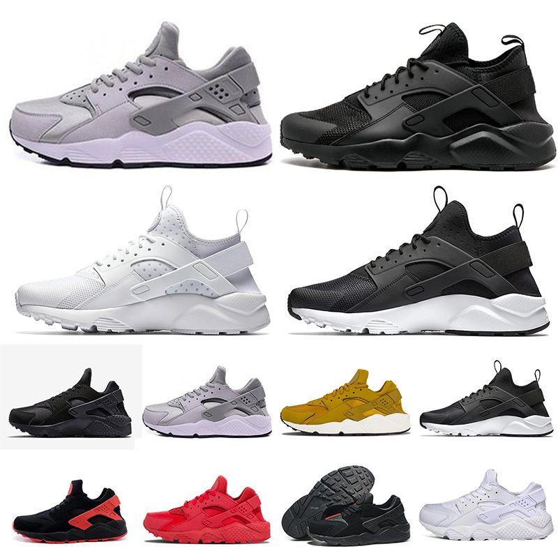 quality design 2b2fa e359e Großhandel Nike Air Huarache 1.0 3.0 4.0 5.0 6.0 2018 Klassische Huarache 4  Laufschuhe Huaraches 1 Männer Frauen Sneakers Ultra Triple Schwarz Weiß Rot  ...