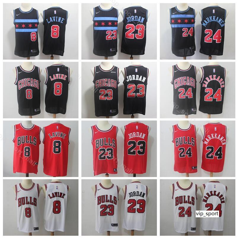 new product a8691 849ec Chicago Basketball Bulls Michael Lauri Markkanen Jersey Men Edition City  Zach LaVine Wendell Carter Jr Black White Red Shirts Uniform