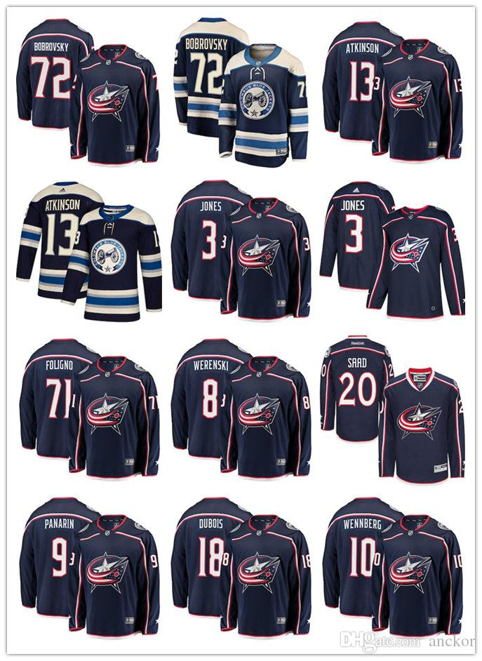 2fc58777de6 2019 Columbus Blue Cam Atkinson Sergei Bobrovsky Nick Foligno Jackets  Fanatics Branded Alternate Breakaway Hockey Home Jersey From  Hottopjersey08, ...