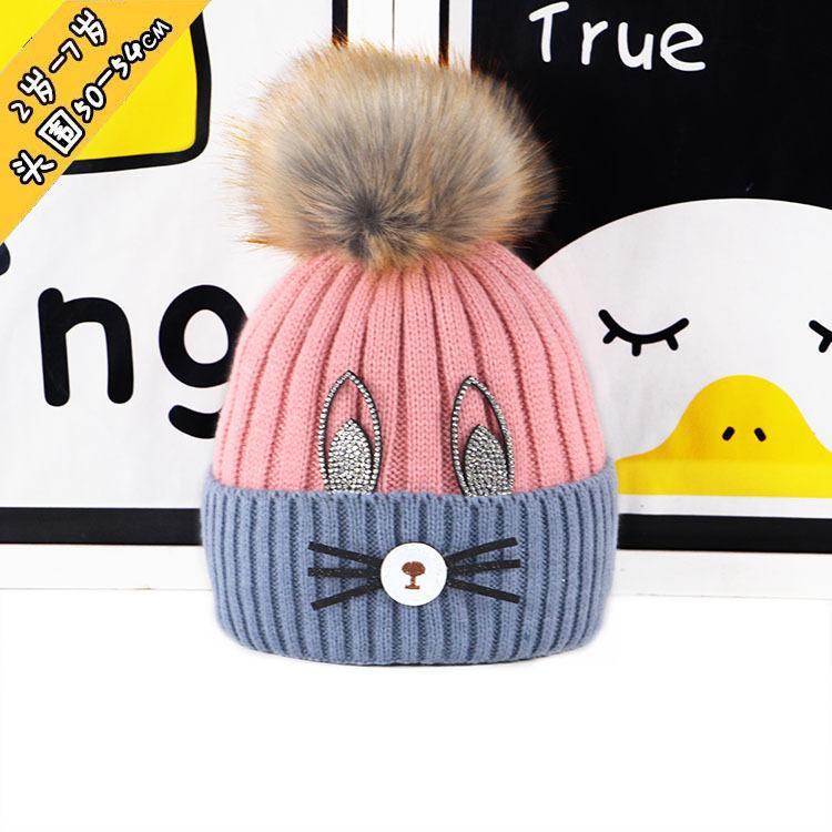 c80f7bb902d 2018 New Children S Hat Cat Beard Boy And Girl Tide Baby Sweater Hat Winter  Warm Knitted Hat Black Beanie Crochet Beanie From Nancyjilllee