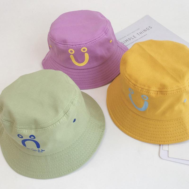 3 Pieces Smiling Bucket Hat Beach Sun Hat Unisex Fisherman Hats for Summer Outdoor
