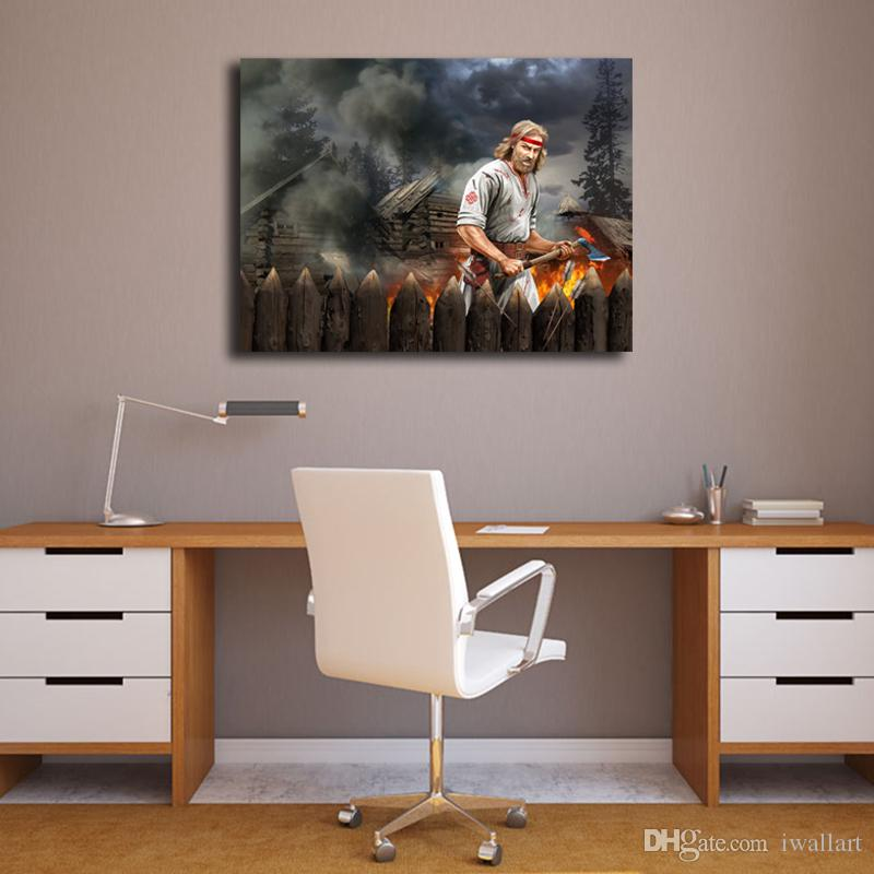 The War In The Forest HD Wall Art Canvas Posters Prints Oil Painting Wall Pictures For Living Room Home Decor