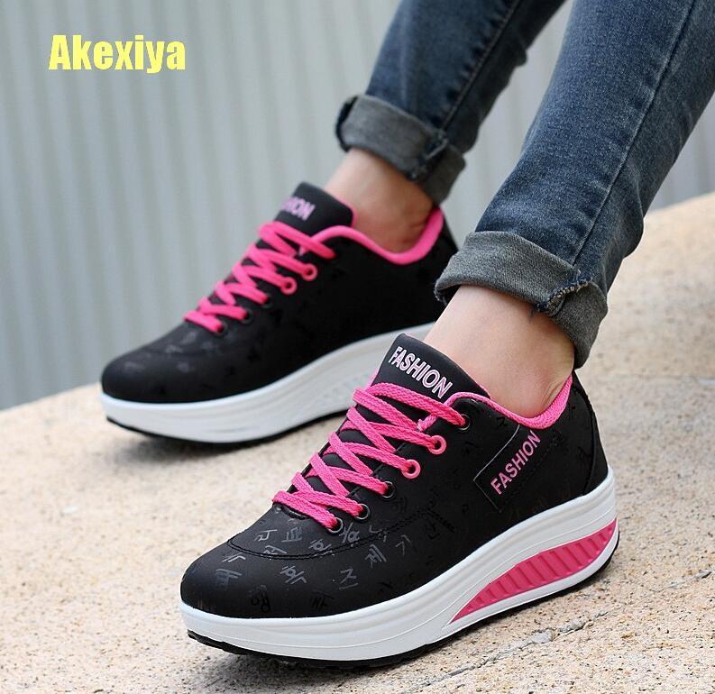 e3ac93b7136c34 Akexiya Fashion Women Height Increasing Summer Breathable Waterproof ...