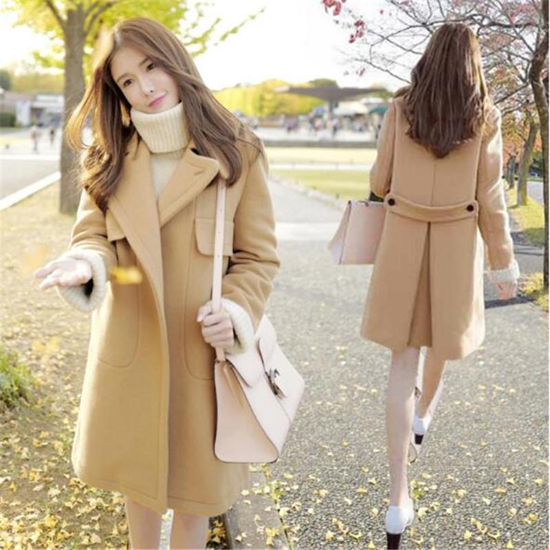 935ced0b1 Japanese Wind 2018 Fashion Cotton-jacket Thickened Winter Clothes Short  Wool Coat Shows Tall and Petite Women's Clothes
