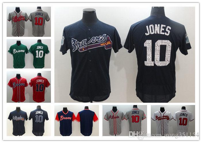 newest collection bec0b e43e6 Braves jersey Custom Unisex Greg 31 Maddux 10 Chipper Jones 20 Josh  Donaldson Ozzie Albies 29 John Smoltz 51 Shane Carle Baseball jersey