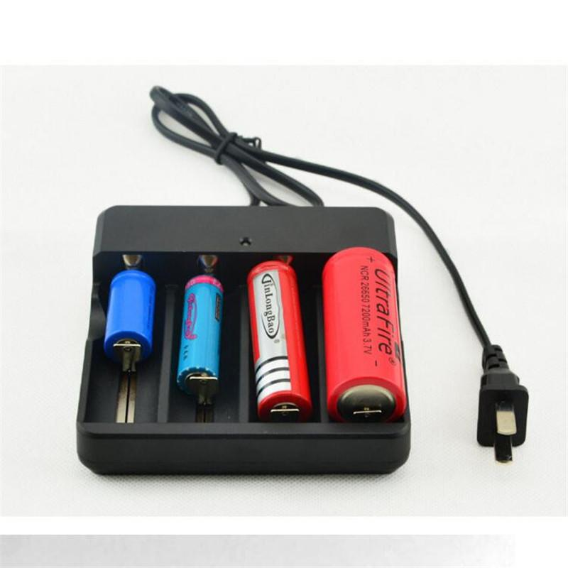 Universal 4 Slot EU Plug Battery Batteries Charger for 3.7V 4x18650 Rechargeable