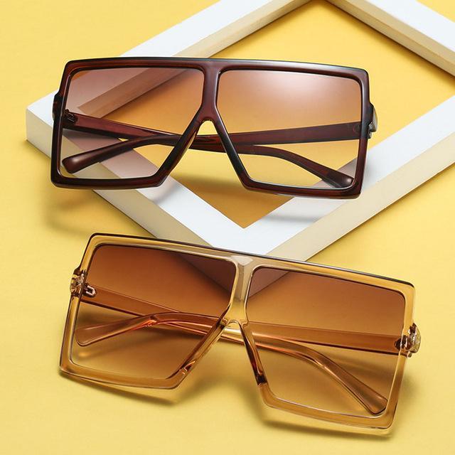 a7e5d9a974 Big Frame Gradient Shades Oversized Sunglasses Square Brand Designer  Vintage Women Fashion Sun Glasses Oculos De Sol UV400 Womens Sunglasses  Sunglasses Sale ...