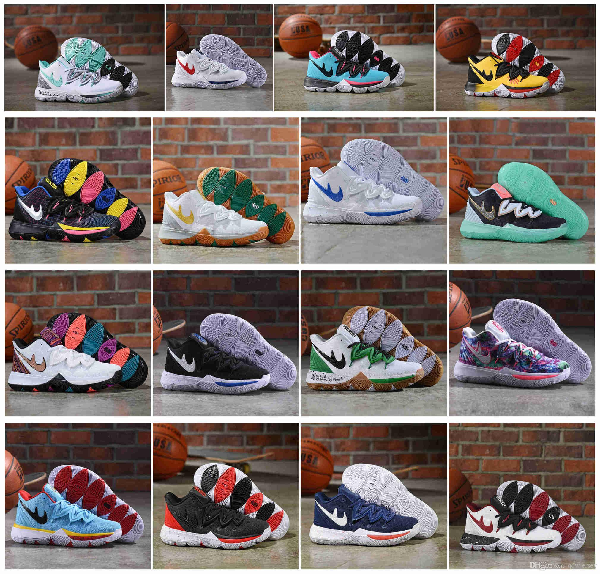 new concept 79a0d 74845 2019 New Mens Kyrie 5.0 Green Shoes white Blue Red Men KYRIE 5 Sports Shoes  11 Irving Outdoors mens Basketball trainer sneakers