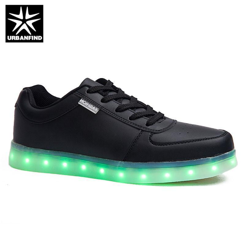 07547273 Compre Usb Caliente Que Brilla Intensamente Colorido Llevó Los Zapatos  Femme Con Luces Luminosas Ocasionales Zapatos Masculinos Simulación Hombres  Para ...
