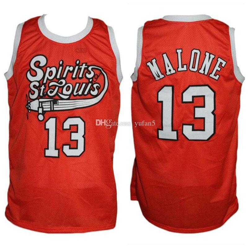 0208ff12562 2019  13 Moses Malone Spirit Of St. Louis Retro Basketball Jersey Mens  Stitched Custom Number Name Jerseys From Yufan5