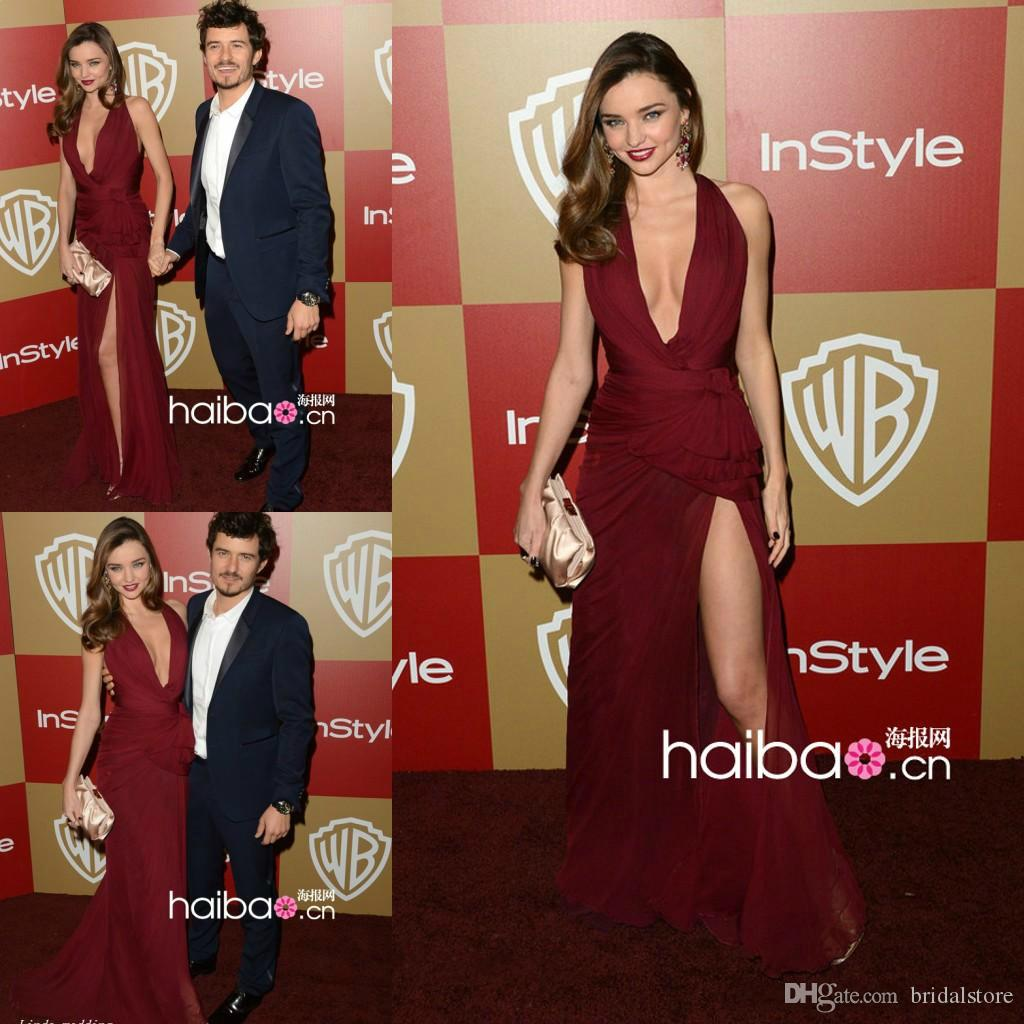 Sexy V-neck Sleeveless Pink Celebrity Dresses Inspired By Miranda Kerr 2019 New Short Front Long Back Red Carpet Prom Dress Weddings & Events