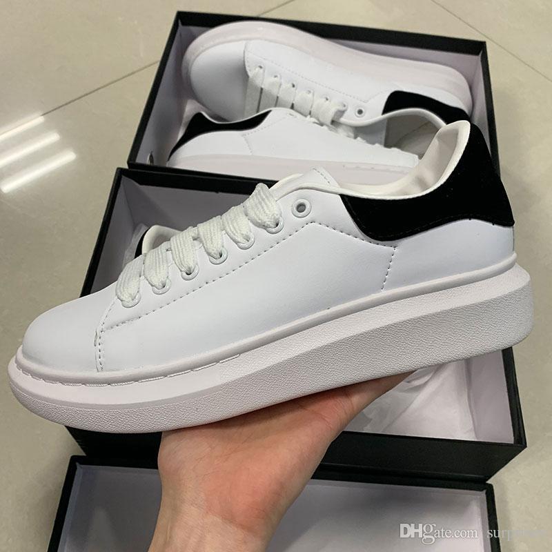 9465c7e800974a Acheter 2019 Chaussures De Sport De Marque De Luxe En Cuir Blanc Pour Fille,  Femme, Hommes, Or Noir, Mode Rouge, Confortables Baskets Plates De $75.13  Du ...