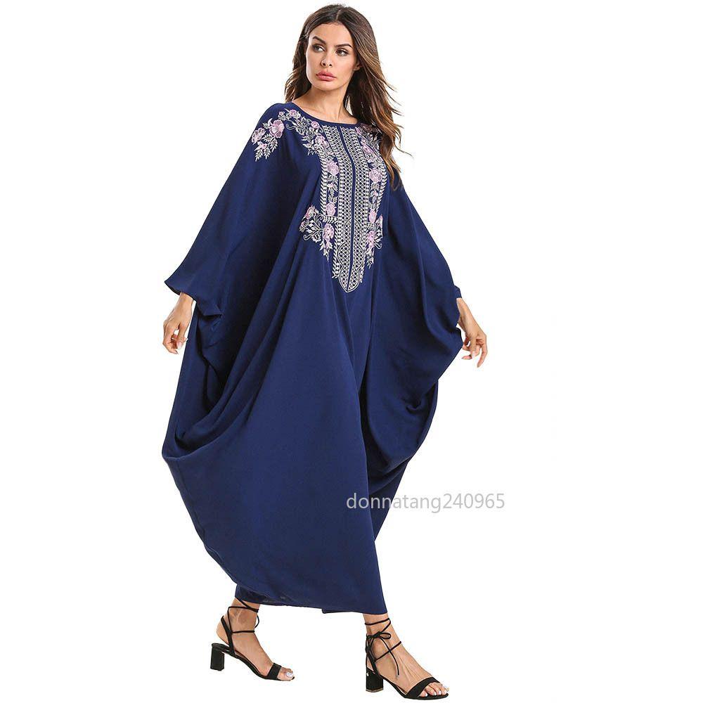 bec3d2f41da Women s New Elegant Muslim Dress Islamic Dubai Long Dress Ramadan ...