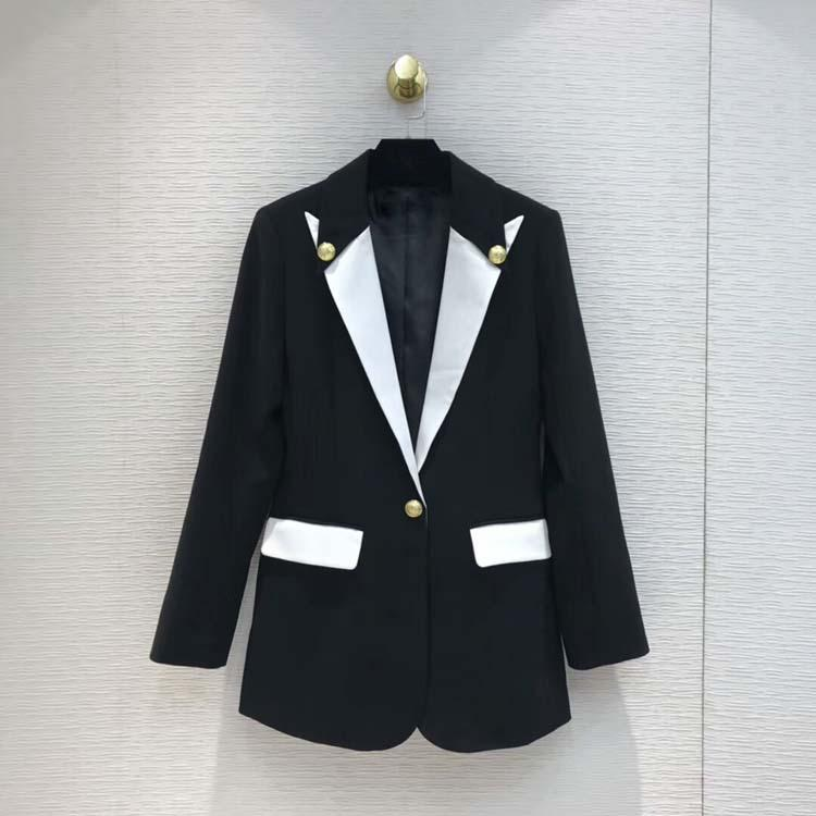 Femmes 2019 fashion blazers slim manteaux at190207
