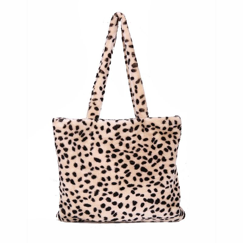 323006a5d5fc Women Vintage Leopard Tote Faux Fur Large Capacity Female Daily Shopping  Tote Lady Plush Shoulder Bag Soft Handbag FashionSS0415 Satchel Bags Man  Bags From ...