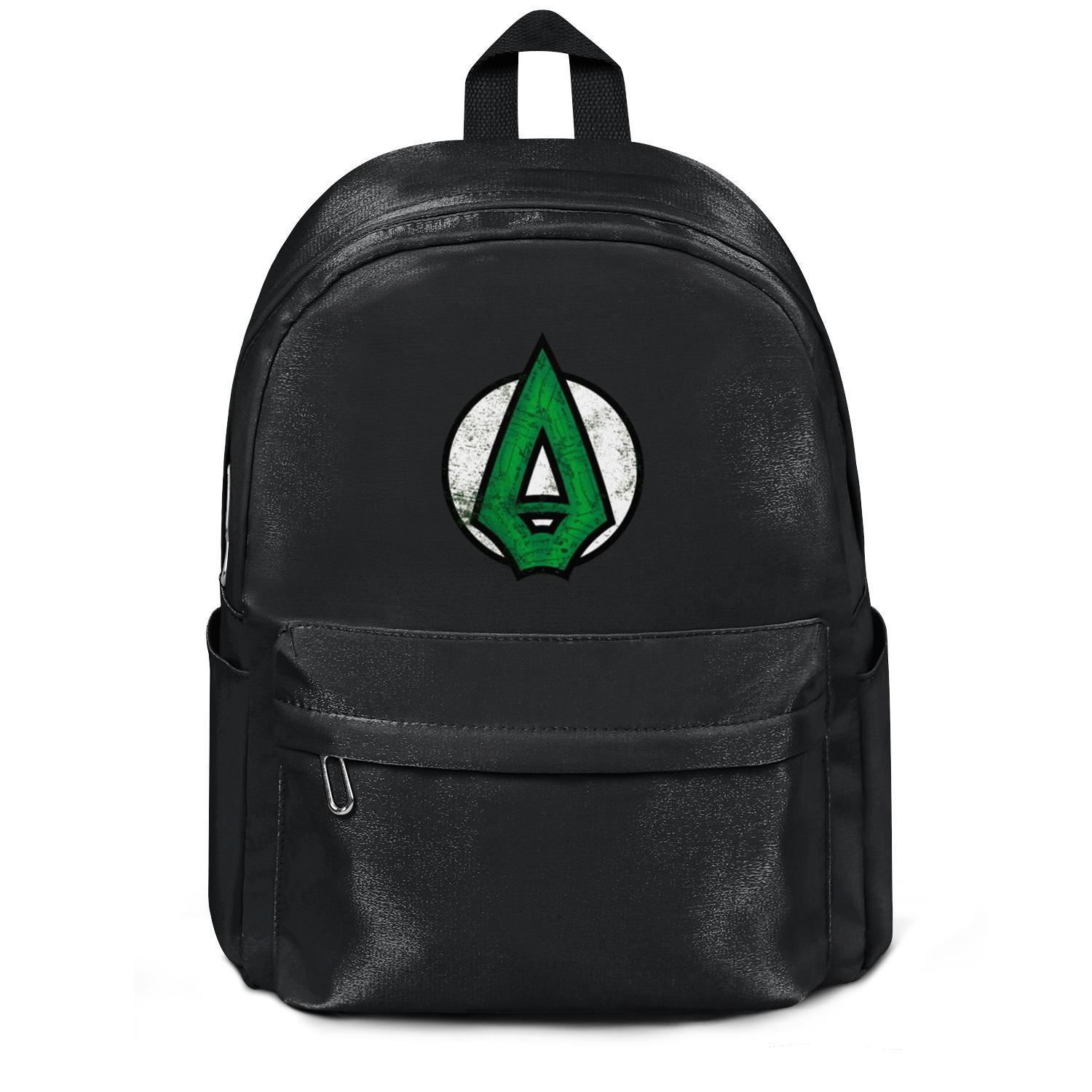 Package,backpack Green Arrow Logo retro DC Comics black cool vintagepackage adjustable yoga athleticbackpack
